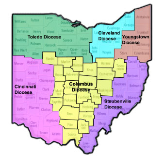 Ohio Dioceses Catholic Conference Of Ohio - Us catholic diocese map
